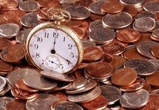 Tempo e conceito do dinheiro Imagens de Stock Royalty Free