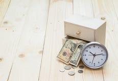 Tempo e concetto dei soldi Fotografia Stock