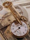 Tempo e concetto dei soldi Fotografie Stock Libere da Diritti