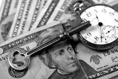 Tempo e concetto dei soldi Fotografie Stock
