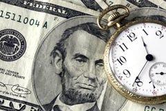 Tempo e dinheiro fotografia de stock royalty free
