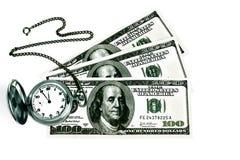 Tempo e dinheiro. Imagens de Stock Royalty Free