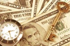Tempo e dinheiro foto de stock royalty free