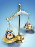 Tempo e dinheiro ilustração royalty free