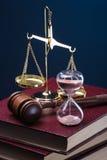Tempo e giustizia Immagini Stock Libere da Diritti