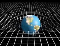 Tempo e gravidade de espaço Foto de Stock