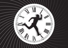 Tempo e homem Fotos de Stock