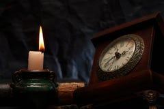 Tempo e incêndio Imagens de Stock Royalty Free