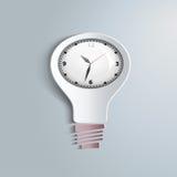 Tempo e luce bianca di Infographic Royalty Illustrazione gratis