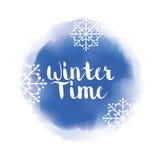 Tempo e neve de Winte Foto de Stock