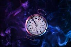 Tempo e série contínua do espaço imagens de stock
