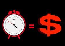 Tempo e soldi Fotografie Stock Libere da Diritti