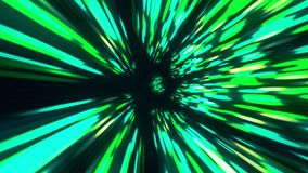 Tempo e spazio del buco del verme del tunnel dell'iperspazio di vortice, ciclo senza cuciture, animazione 4K del fondo 3D della f illustrazione vettoriale