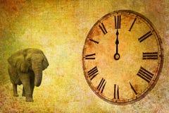 Tempo e spazio, dodici in punto Fotografia Stock Libera da Diritti