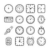 Tempo ed icone degli orologi illustrazione vettoriale