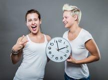 Tempo ed orologio Fotografie Stock