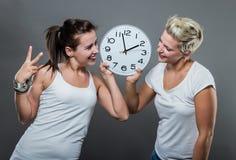 Tempo ed orologio Fotografia Stock