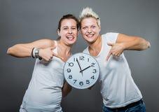 Tempo ed orologio Fotografia Stock Libera da Diritti