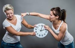 Tempo ed orologio Immagine Stock