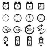 Tempo ed orologio messi su bianco Fotografie Stock Libere da Diritti