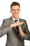 Tempo executivo feliz para fora Imagem de Stock