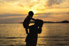 Tempo felice con il genitore Fotografia Stock Libera da Diritti