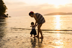 Tempo felice con il genitore immagini stock libere da diritti