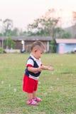 Tempo felice con le bolle Fotografia Stock