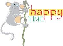 Tempo feliz ilustração royalty free