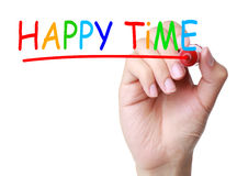 Tempo feliz imagens de stock