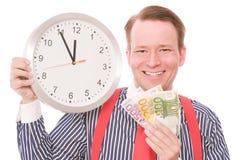 Tempo feliz do dinheiro Imagem de Stock Royalty Free