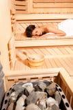 Tempo finlandese di sauna Fotografie Stock