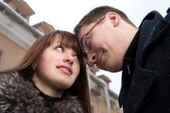 Tempo freddo e sensibilità calde Fotografie Stock