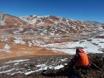 Tempo geológico na corrente de Andes de montanhas foto de stock