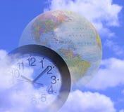 Tempo global ilustração royalty free