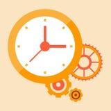 Tempo iniciado e que planeja mecanismos e sistemas Ilustração Royalty Free