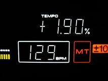 Tempo ist 129 BPM Lizenzfreies Stockfoto