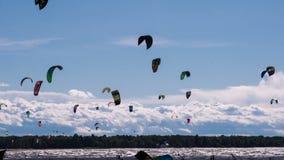 Tempo Kiteboarding stock footage