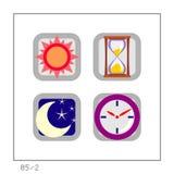 TEMPO: L'icona ha impostato 05 - versione 2 illustrazione vettoriale