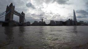 Tempo-lapso da filtração de marcos de Londres video estoque