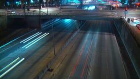Tempo-lapso da passagem superior da autoestrada vídeos de arquivo