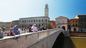 Tempo-lapso de Pisa Itália video estoque