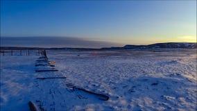 Tempo-lapso do por do sol do parque nacional das pastagem video estoque