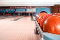 Tempo libero nel club di bowling Fotografia Stock