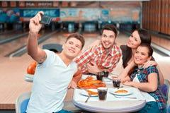 Tempo libero nel club di bowling Immagine Stock Libera da Diritti