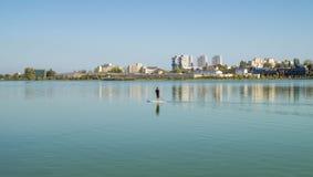 Tempo libero sul lago Fotografia Stock