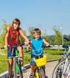 Tempo libero sulle bici Fotografia Stock