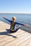 Tempo livre, apreciando o sol Foto de Stock Royalty Free