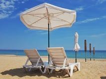Tempo livre na praia imagem de stock