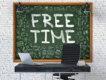 Tempo livre tirado mão no quadro do escritório 3d Imagem de Stock